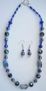 Midnight Blues Sparkle Necklace & Earrings Kit
